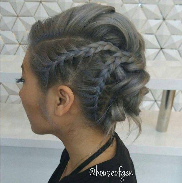 27 Super Trendy Updo Ideas for Medium Length Hair - PoPular .