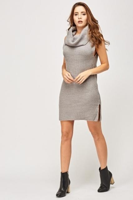 15 Look Ideas With Sleeveless Sweater Dresses - Styleohol