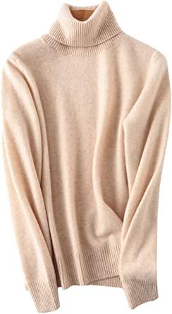 PHELEAD Women's 100% Merino Wool Winter Turtleneck Sweaters for .