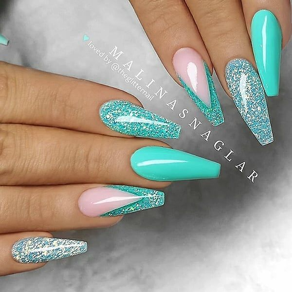 Teal Nails: 40 Teal Color Nail Designs You Will Fall in Love .