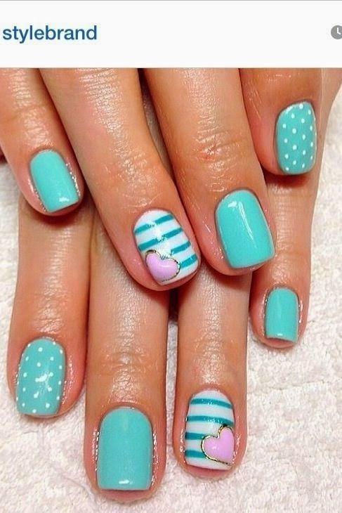 Teal Nail Designs 2014 First Show | Teal nails, Teal nail designs .