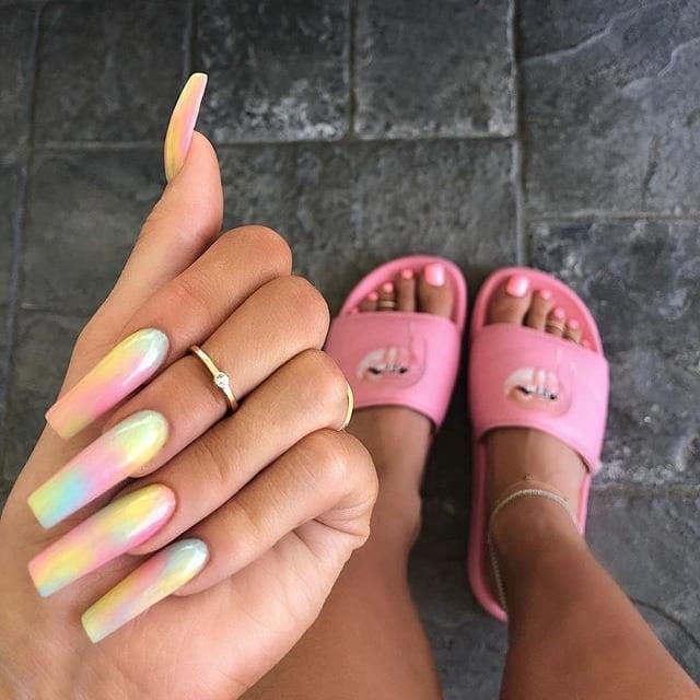 How to Do Tie-Dye Nails   POPSUGAR Beau