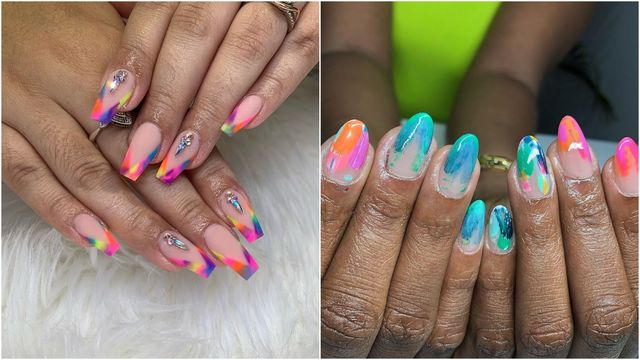 Tie-Dye Nail Inspiration   Reveli
