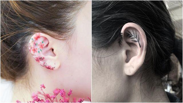7 Tiny Ear Tattoo Ideas   Reveli