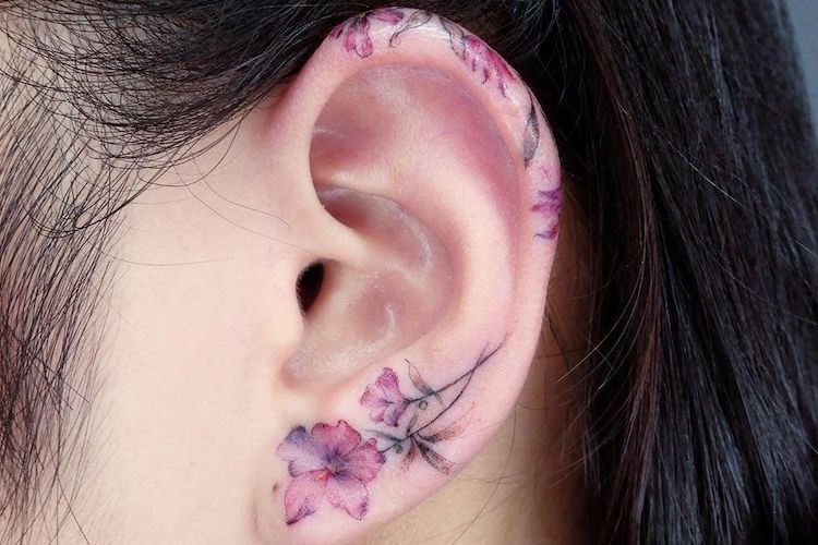 Ear Tattoos: 31 Gorgeous, Creative, And (Mostly) Tiny Ta