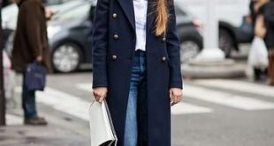 25 Perfect Ways to Style a Navy Blue Coat | Navy coat outfit, Blue .