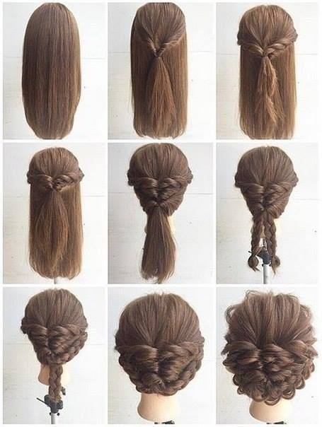Fashionable Braid Hairstyle for Shoulder Length Hair   Long hair .