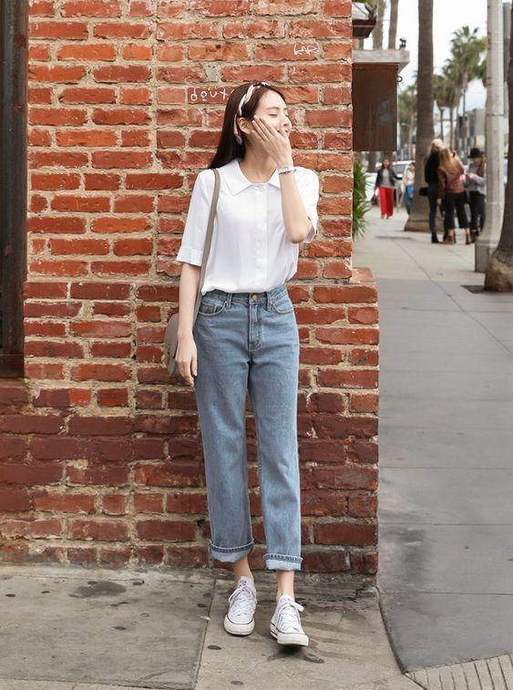 Urlaub Frühlingsoutfit wie koreanische Modeblogger »Promi-Mode .