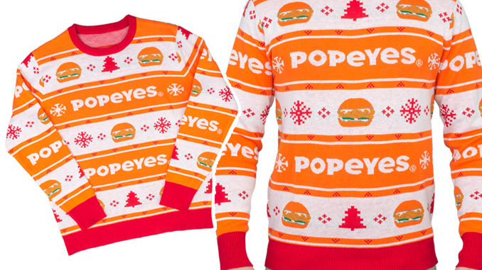 New 'Popeyes Ugly Christmas Sweater' Arrives For The 2019 Holiday .