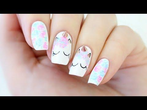 Unicorn Nail Art! - YouTu