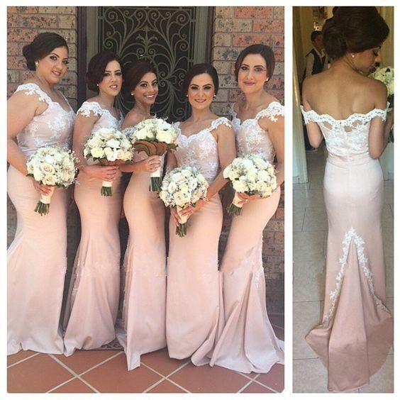 Long Bridesmaid Dresses, Mermaid Bridesmaid Dress, Unique .