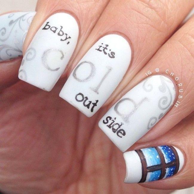 cool christmas nail designs 13 | Holiday nails, Winter nail art .