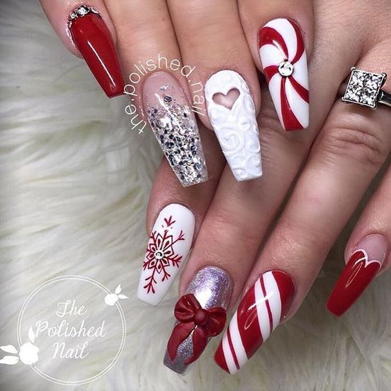 90+ Christmas Nail Art Designs Which Are perfect for the Holiday .