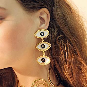 Amazon.com: Doubnine Evil Eye Earrings Dangle Vintage Unique .