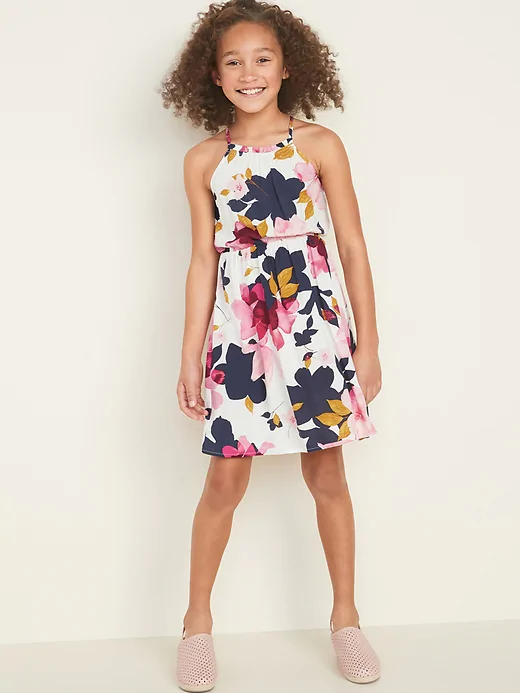 Cinched-Waist Cami Dress for Girls in 2020   Girls dresses .