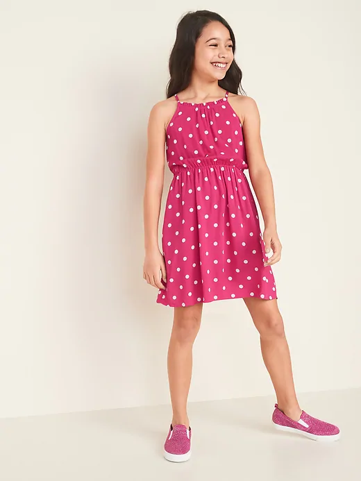 Cinched-Waist Cami Dress for Girls   Old Navy in 2020   Girls .