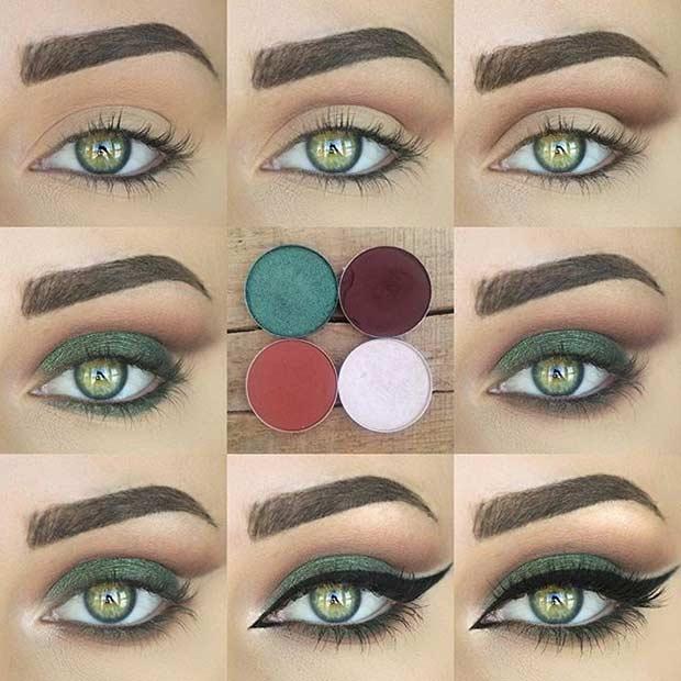 How To Do Cute Eye Makeup For Green Eyes | Saubhaya Make