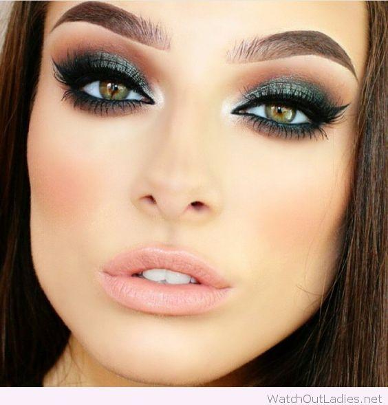 Green eye makeup for green eyes | Makeup for green eyes, Green .