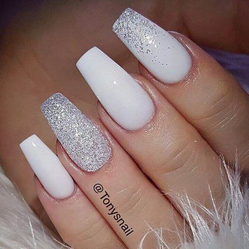 The Most Stylish Ideas For White Coffin Nails Design | White .
