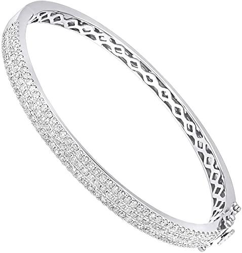 Amazon.com: Ladies 14K Rose, White or Yellow Gold Designer Diamond .