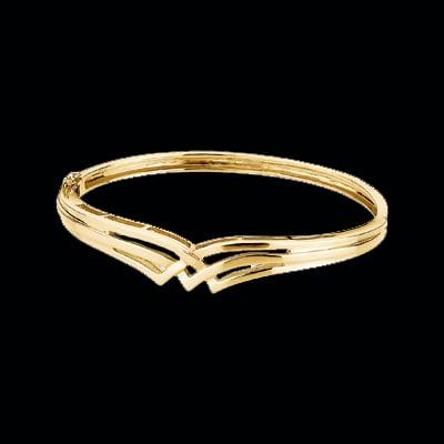 Designer White or Yellow Gold Bang