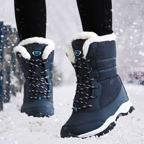 2019 Women's Fashion Winter Boots Ankle Warm Bootie Casual Outdoor .