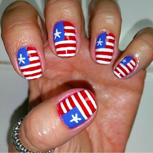 Chic 4th July Nail Art Designs