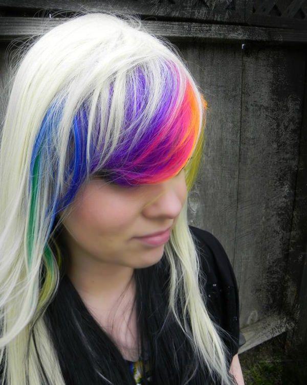 Rainbow Bangs Hairstyles