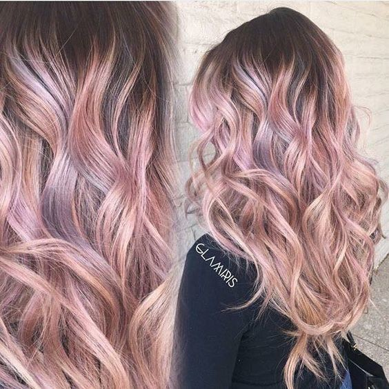 Rose Gold Hair Ideas
