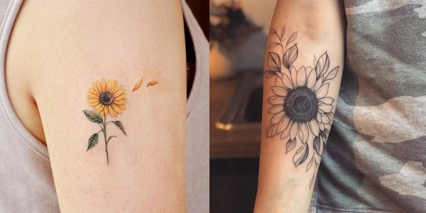 Small Sunflower Tattoos