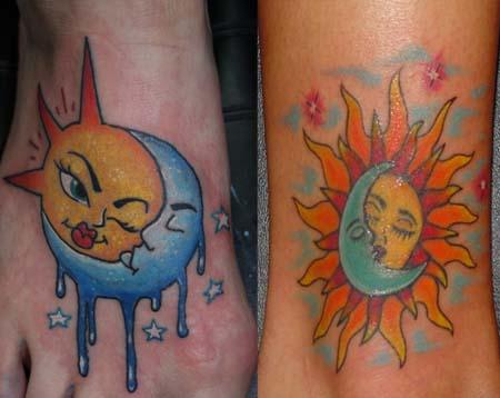Sun and Moon Tattoo Ideas